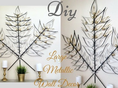 Diy Large Metallic Gold and Silver Wall Art Decor