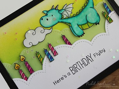 Dragon Blowing Out Birthday Candles Card