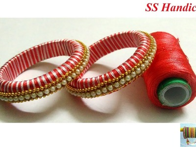 Easy and Simple Silk Thread Bangles