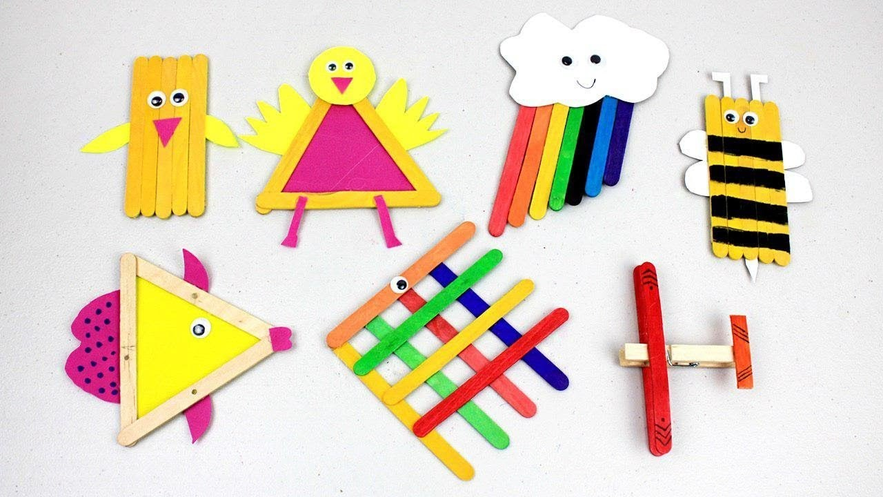 Easy Popsicle Stick Crafts For Kids To Do At Home