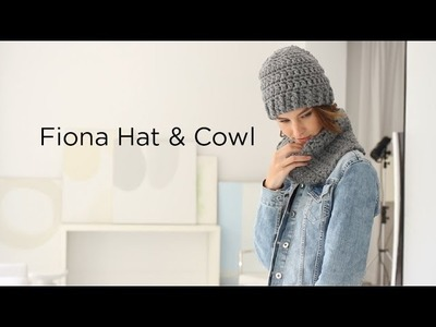 Fiona Hat And Cowl crocheted with Thick & Quick® Bonus Bundle®