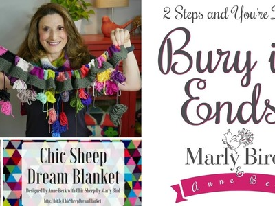 Get Rid of Ends in 2 steps- Learn to Bury in Ends for Knitting and Crochet