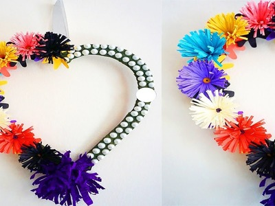 Heart. Love Shape Wall Hanging ideas - Easy Wall Decoration | Wall Hanging Ideas