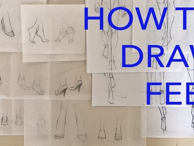 How to Draw Simplified Feet for Fast Illustrations