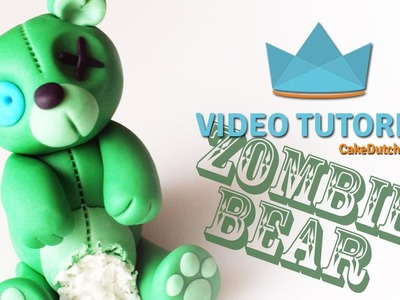 How to make a Zombie Bear Cake Topper - Perfect for Halloween