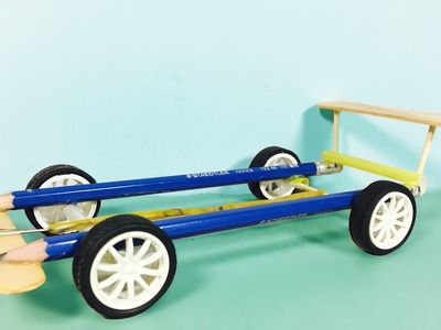 How to make car using rubber bands