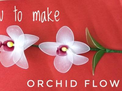 How to make Easy Nylon Orchid Flower Stem