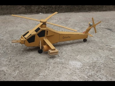 How To Make Helicopter AH-64 Apache cardboard