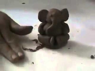 How to make lord vinayaka using clay