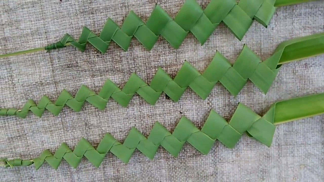 How to make palm beautiful stick (coconut tree leaves)