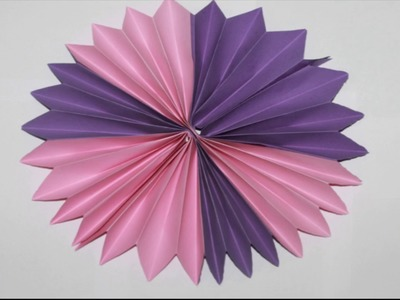 Paper how to make a paper flower vase diy simple paper craft how how to make paper rosette flower mightylinksfo