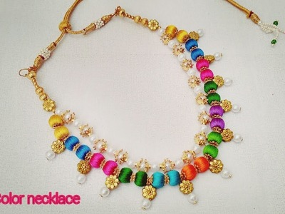 How To Make Silk Thread Necklace. How To Make Multi Color Silk Thread Necklace at home. DIY Haara