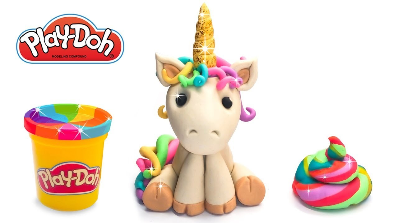 How To Make Unicorn With Poop Out Of Play Doh Or Clay Diy