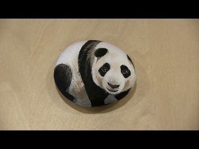 How to Paint a Panda Rock - By Wendy Wu