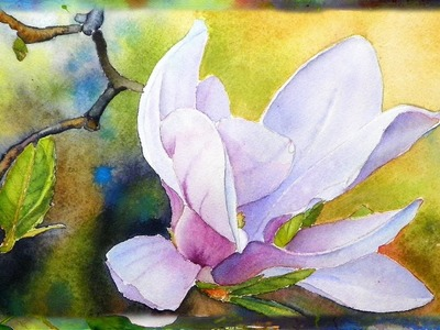 How to Paint the Magnolia Flower, Watercolor Painting, Part 2