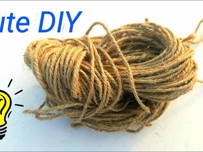 How to reuse jute and old bottle for making a lovely flower vase | flower pot making from waste jute