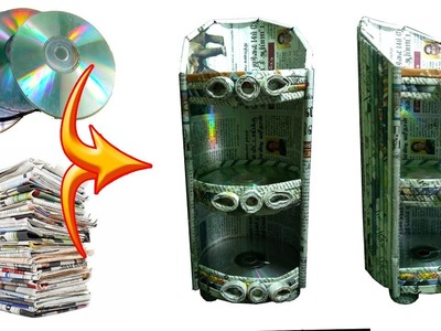 How to reuse OLD CD.DVD and Newspaper | Newspaper 18 | All type videyos