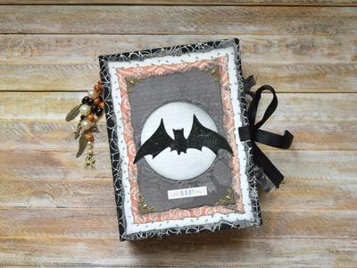 """Junk Journals Flip Through \ Halloween Junk Journal \ """"The Boo!"""" (sold)"""