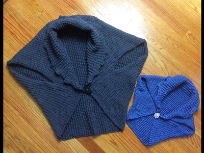 Knitted vest.shrug. Complete tutorial. Great project for beginner.