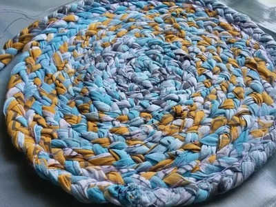 Old clothes recycling ideas l how to make Door mat.rug.table mat.carpet ,how to make simple rag rugs