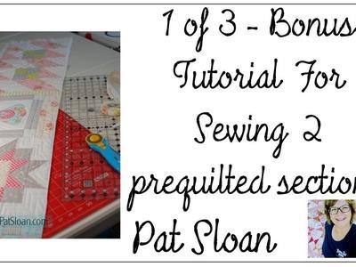 Pat Sloan BONUS QAYG method Video 1 of 3 in Quilt your Own Quilt Series
