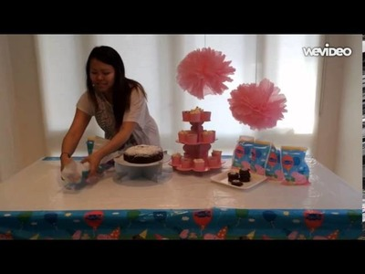 Peppa Pig Party Table Set Up