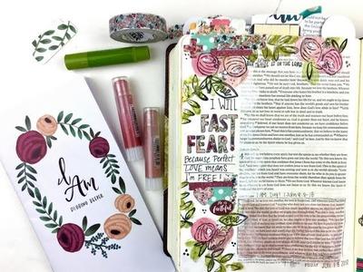 "Process Video using Gelatos with Wet Paintbrush Technique & Illustrated Faith ""I Am"" Devotional Kit"