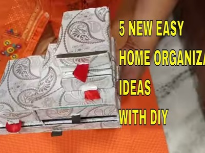 5 easy & useful home organization ideas. organizer DIY. DIY home organisation & storage ideas