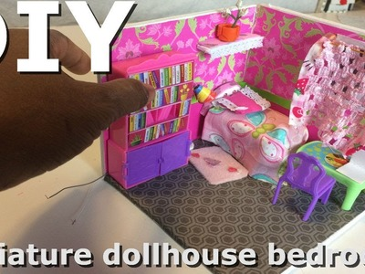 Awesomediydollcraft DIY DollHouse.Miniature bedroom. How to make a mini bedroom