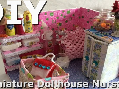 Awesomediydollcraft.DIY DollHouse. How to make a Miniature Nursery