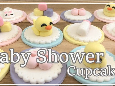 【Baby Shower】How to make Baby Shower Cupcakes (3 mins)| Irma's fondant cakes