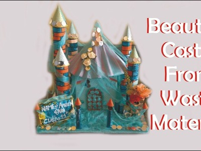 Beautiful Castle with waste materials   Beautiful Craft Model   Craft with waste materials