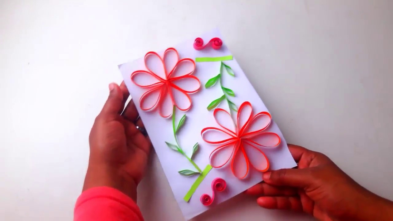 Beautiful Handmade Birthday Card Ideas For Wife Diy Paper Quilling