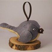 Bird Felt Hanging Ornament Cute Grey Plush Birds Animals Home Decor Handmade