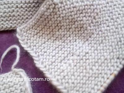 Cardigan tricotat (metoda raglan)