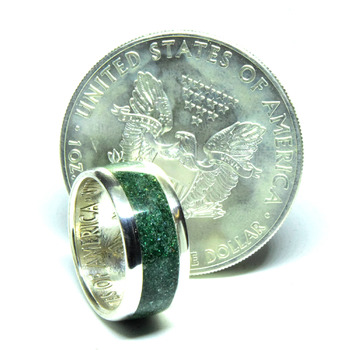 Connemara marble jewelry rings silver eagle coin ring