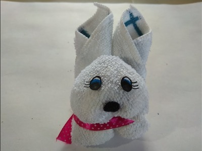 DIY 2 Minute Rabbit. How to Make Rabbit by Towel. How to Make Soft Rabbit. No Sew Soft Toy
