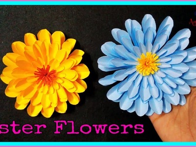 DIY Aster Flowers - Beautiful Aster Paper Flower - Paper Flower Tutorial