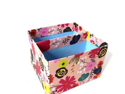 {DIY} Cereal Box Desk Organizer ???? Easy Crafts