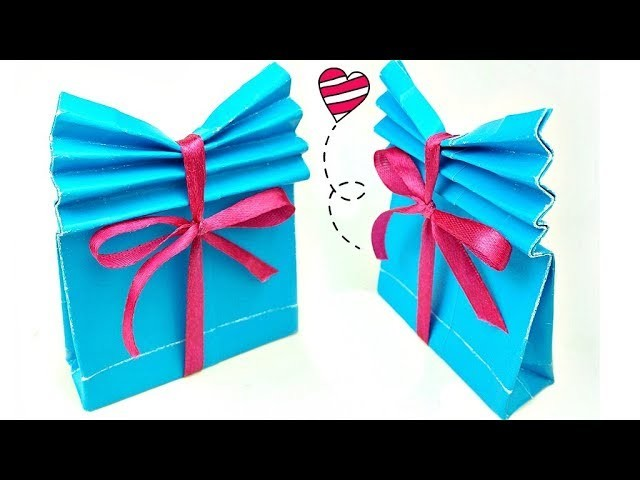 DIY crafts Origami Paper GIFT BAG Easy Tutorial for boyfriend. for birthday. for kids