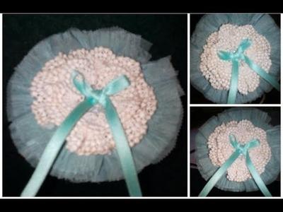Diy crochet kanzashi band Beginners #1