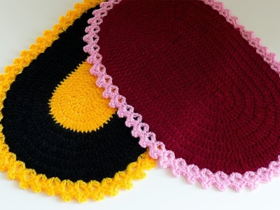 DIY Crochet Tutorial: How to crochet an oval placemat by DIY Stitching