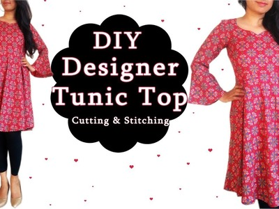 DIY Designer Tunic Top Cutting & Stitching | Easy Sewing Project for All Age & Sizes
