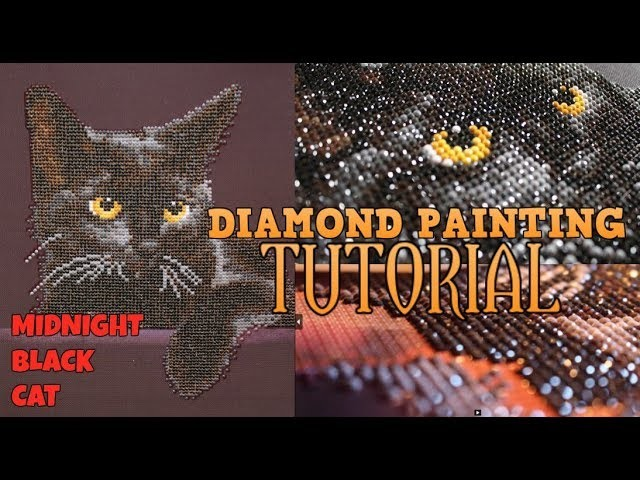 DIY DIAMOND PAINTING TUTORIAL -  Step by Step Process of Diamond Painting