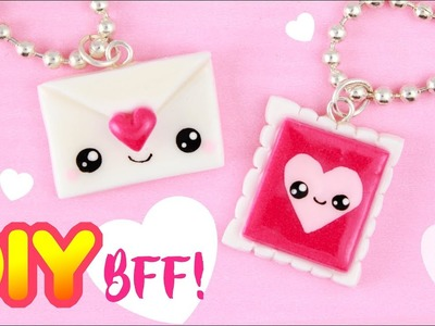 DIY LOVE Letter+Stamp BFF CHARMS- Valentines day DIY!  | KAWAII FRIDAY