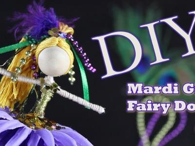DIY Mardi Gras Fairy Doll | How To Make A Flower Fairy | untidyartist