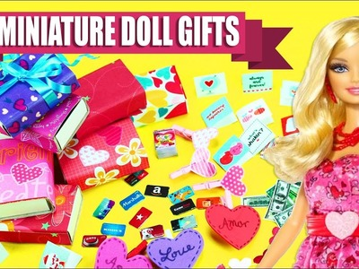 DIY Miniature Doll Gifts & Decorations- Celebrate Love & Friendship -  10 Easy DIY Doll Crafts