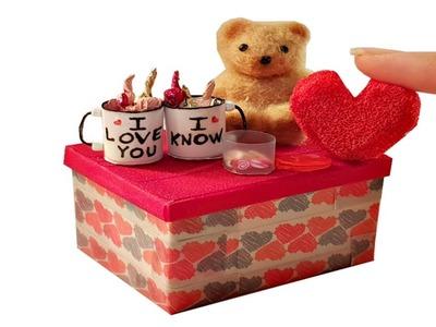 DIY Miniature ✫ Valentine's Box Pack ✫ Tutorial   Crafts