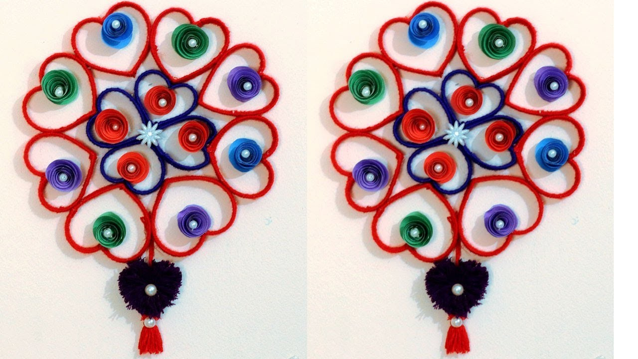 DIY - Plastic bottle and woolen wall hanging craft ideas - Best out of waste - Wall ShowPiece Idea