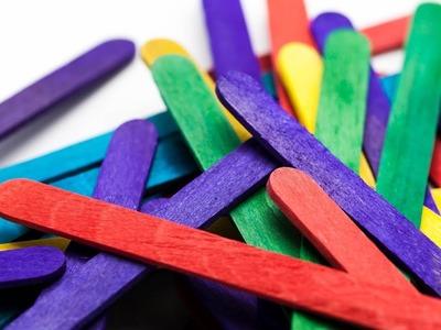 DIY Popsicle stick craft I Popstick makeup origaniser I Art with Creativity